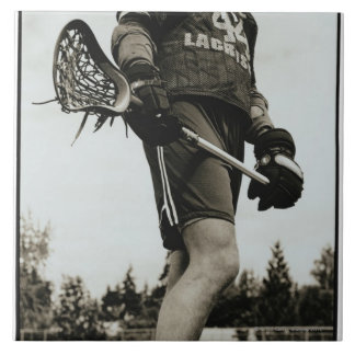 Detail of Lacrosse Athlete Tile