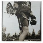 Detail of Lacrosse Athlete Tiles