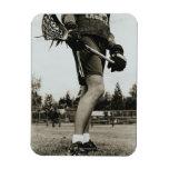 Detail of Lacrosse Athlete Vinyl Magnet