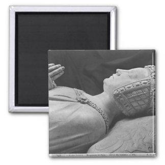 Detail of Marguerite de Foix 2 Inch Square Magnet