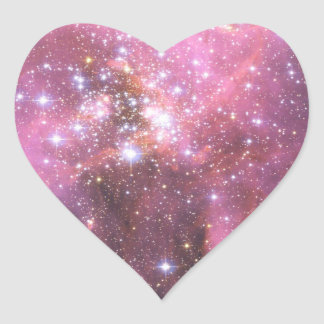 Detail of NGC 346 in Pink Heart Sticker