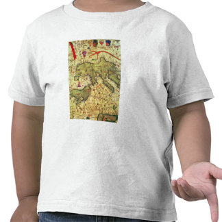 Detail of North Africa and Europe T Shirts