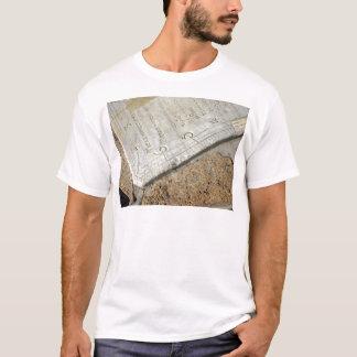 Detail of old sundial clock face closeup T-Shirt