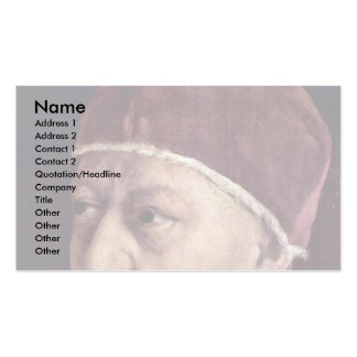 Detail Of Portrait Of Pope Leo X With His Cousins Business Card Template