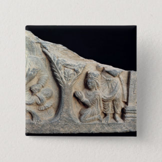 Detail of relief frieze depicting a seated button