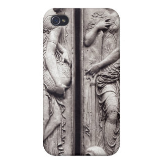 Detail of reliefs iPhone 4 cover