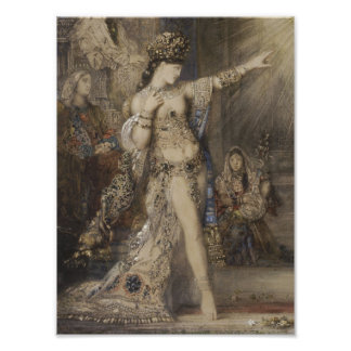 Detail of Salome and Apparition by Gustave Moreau Photo Print