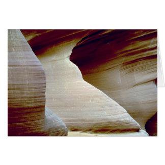 Detail of sandstone, Antelope Canyon, Page, Arizon Card