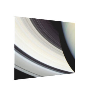 Detail of Saturn's Rings, Disk and Shadow Canvas Print
