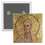 Detail of St. Peter 2 Inch Square Button