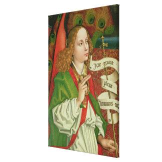 Detail of the Archangel Gabriel Canvas Print