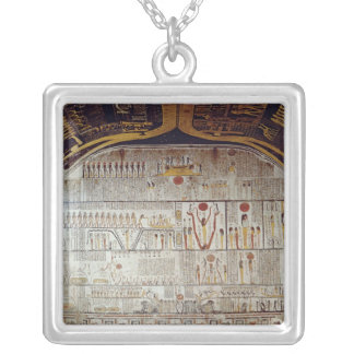 Detail of the Book of the Earth Square Pendant Necklace