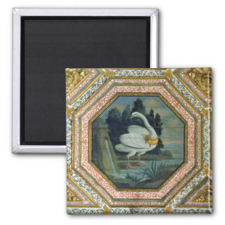 Detail of the ceiling decoration in the Salon 2 Inch Square Magnet