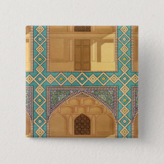 Detail of the Courtyard Arcades in the Medrese-i-S Pinback Button