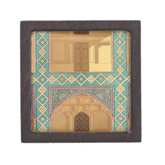 Detail of the Courtyard Arcades in the Medrese-i-S Premium Keepsake Box