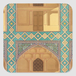 Detail of the Courtyard Arcades in the Medrese-i-S Sticker