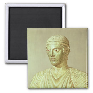 Detail of the Delphi Charioteer, c.470 BC 2 Inch Square Magnet