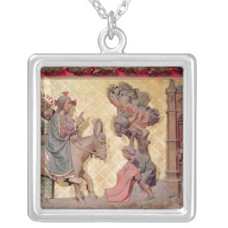 Detail of the entry of Christ into Jerusalem Silver Plated Necklace