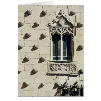 Detail of the exterior of the Casa de la Conchas Greeting Card