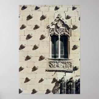 Detail of the exterior of the Casa de la Conchas Posters