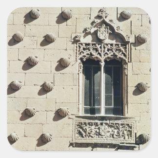 Detail of the exterior of the Casa de la Conchas Square Sticker