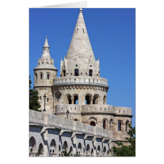 detail of the Fisherman's Bastion in Budapest Card