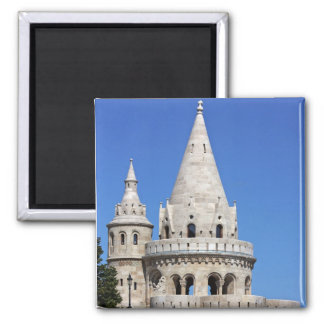 detail of the Fisherman's Bastion in Budapest Refrigerator Magnet