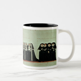 Detail of the Funeral Procession Two-Tone Coffee Mug