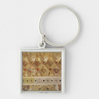 Detail of the Gallery of Mirrors Silver-Colored Square Keychain