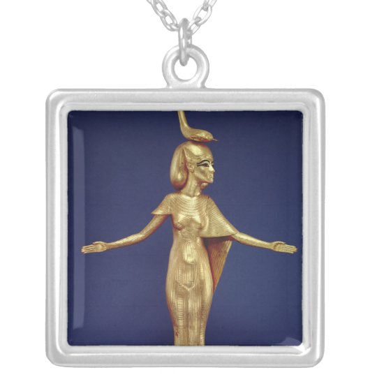 Detail of the goddess Selket Silver Plated Necklace