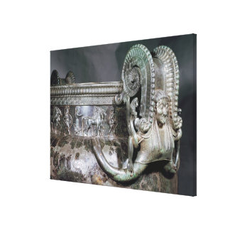 Detail of the gorgon handle from a krater canvas prints