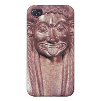 Detail of the gorgon handle from a krater cover for iPhone 4