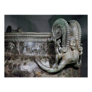 Detail of the gorgon handle from a krater poster