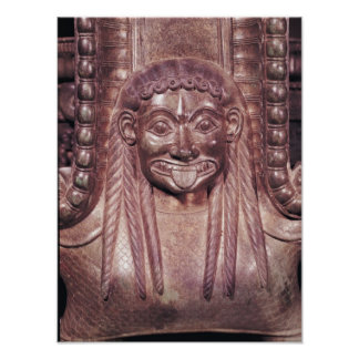 Detail of the gorgon handle from a krater print