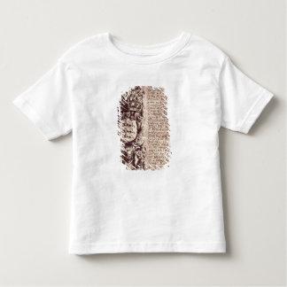 Detail of the left hand margin toddler t-shirt