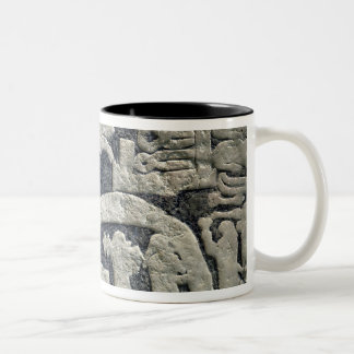 Detail of the legend of Valhalla Two-Tone Coffee Mug