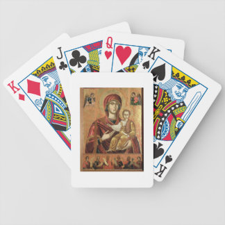 Detail of the Madonna and Child from the Iconostas Bicycle Playing Cards
