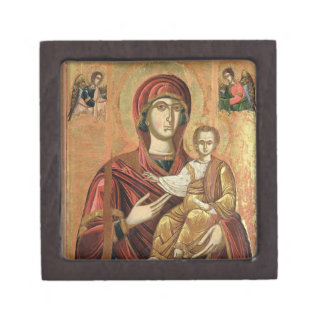 Detail of the Madonna and Child from the Iconostas Premium Keepsake Boxes