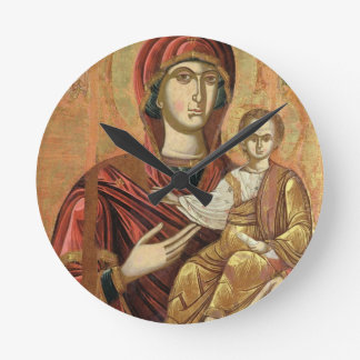 Detail of the Madonna and Child from the Iconostas Round Clock
