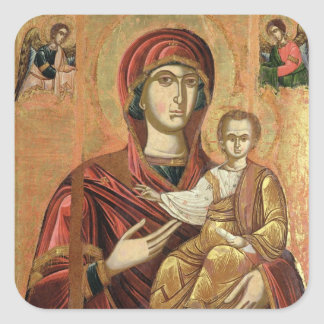 Detail of the Madonna and Child from the Iconostas Square Sticker
