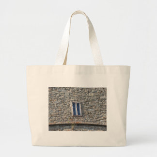Detail of the medieval sanctuary facade large tote bag