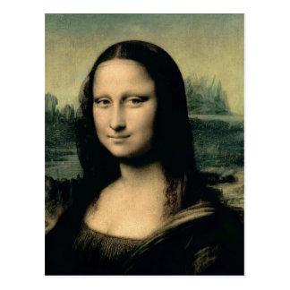Detail of the Mona Lisa, c.1503-6 Postcard