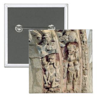 Detail of the Portico De la Gloria Pinback Button