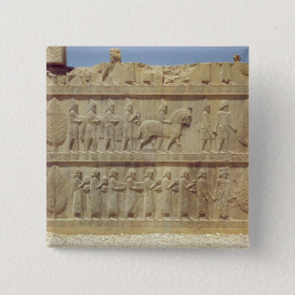 Detail of the relief frieze on the east stairway pinback button