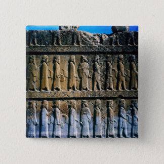 Detail of the relief frieze on the stairway pinback button