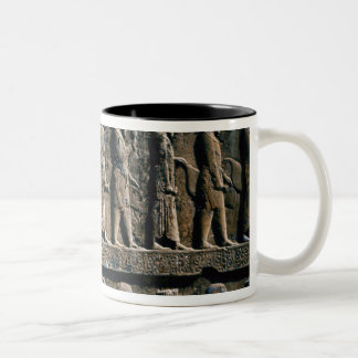 Detail of the relief frieze on the stairway Two-Tone coffee mug