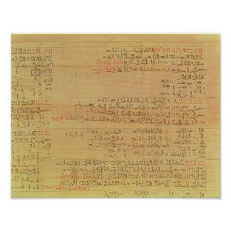 Detail of the Rhind Mathematical Papyrus Poster