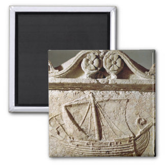 Detail of the Ship Sarcophagus, from Sidon Refrigerator Magnet
