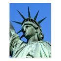 Detail of the Statue of Liberty's Head and Crown Post Cards