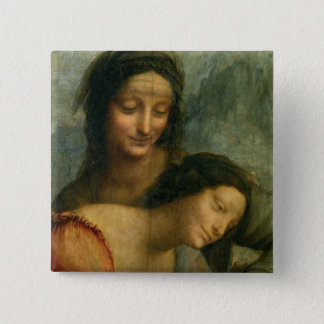 Detail of the Virgin and St. Anne from The Virgin Pinback Button